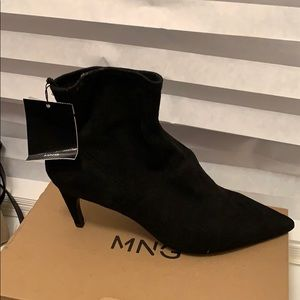 Suede sock ankle booties